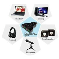 Virtual 7.1 Channel  3D External USB Adapter for PC Laptop Audio Sound Card
