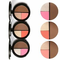 Makeup Face Contour Powder Highlighter Bronzer Concealer Palette Cosmetic Mirror