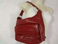 Wilsons Red Leather  Small Shoulder Bag