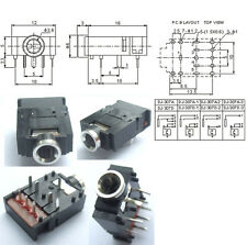 """20PCS 8-pin 1/8"""" 3.5mm Stereo Socket With switch PCB Panel Mount FOR Headphones"""
