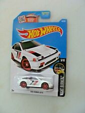 1985 HONDA CR-X - NIGHT BURNERZ - HOT WHEELS '16 1:64 DIECAST CAR - RED INTERIOR