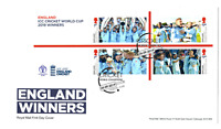 2019 GB ICC Cricket World Cup England Winners First Day Cover 19.09.19 FDC