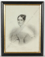 """Conrad L'Allemand """"Portrait of a lady from Courland (Latvia)"""", drawing, 1836"""