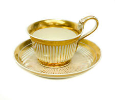 Imperial Royal Vienna Porcelain and Gilt Striped Cup & Saucer, 1821