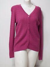 Women Sweater Zena Essentials Long Sleeve Cardigan Button Up Purple