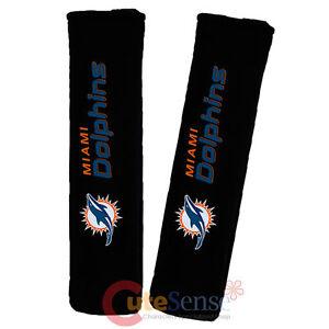 NFL Miami Dolphins Seat Belt Cover NFL 2pc Auto Car Shoulder Pad