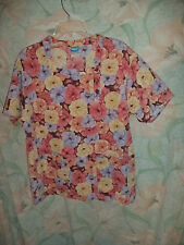 CREST  FLOWERS SCRUB TOP SIZE S (2 POCKETS) 5238