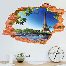 Huge 3D Effect Window Lake View Wall Stickers Mural Home Decor Art Decal Paper