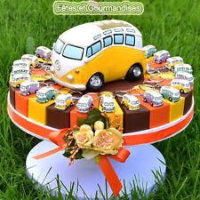 Combi volkswagen gateau pour bapteme, communion, anniversaire, dragees, bonbons