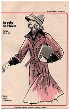 ▬► Patron Couture Supplément Écho de la Mode Robe de l'hiver T42 à 46  N°47