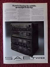 1979 Print Ad SAE TWO Home Stereo System Components ~ Go Straight to the Top