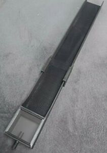 Goldwaschrinne, Gold sluice box / 65cm / steckbar / schwarz mit Feinriefenmatte
