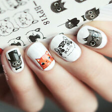 Cute Cat Nail Water Decals Nail Art Transfer Sticker Decoration BORN PRETTY