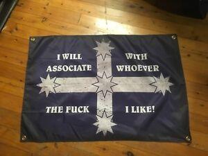 VLAD outlaw man cave banner flag sign Aus biker Queensland vlad laws wall flag