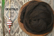 ZWARTBLES Undyed Combed Top Natural Brown Wool Roving for Spinning, Felting 4 oz