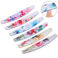 6 Pcs Floral Nail Art Care Sanding Buffer Buffing Manicure Acrylic Gel File Tool