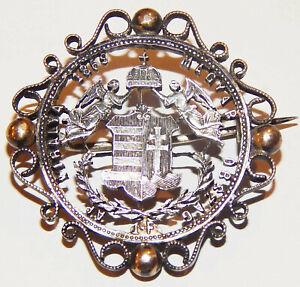 BROSCHE 900 SILBER aus Münze geschnitten 1 Forint 1869 Silber Österreich/Ungarn