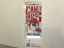 Unused Montreal Canadians tickets featuring Charlie  Lindgren Feb 29