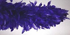 "Feathered Purple Boa 78"" Long For Red Hat Ladies Full Large Purple Feathers"