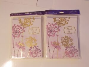 Hallmark Stationery Thank You Cards 2 Packages of 10