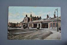 R&L Postcard:  Midland Railway Station Derby Used 1908 St Helens Road Hastings