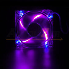 Autolizer Sleeve Bearing 120mm Green LEDs Silent Cooling Fan for Computer PC Purple