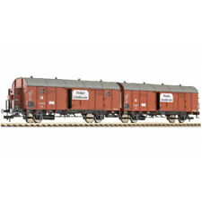 """Fleischmann 5306 - HO Leig wagon unit, contains two boxcars type Glleh """"Dresden"""""""