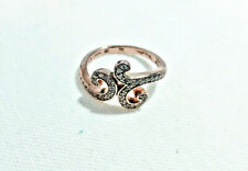 THOMAS SABO Rose Gold Plated Scroll Ring, Size 52