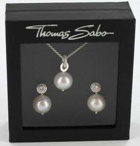 Thomas Sabo Kette + passende Ohrringe Set0014-054-14, 925/- Silber, UVP € 156,00