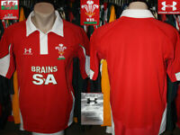 DRAGONS WRU CYMRU WALES 2008 Home Under Armour Shirt Jersey Camiseta