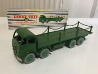 ORIGINAL DINKY SUPERTOYS #905 FODEN FLAT TRUCK WITH CHAINS GREEN SUPERB BOXED