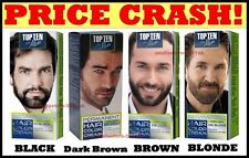 MEN COLOR CREAM PERMANENT for BEARD & MOUSTACHE 10 Min. Grey Hair Cover-up Dye