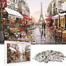 1000PCS Puzzles Jigsaw Flower Street Paris Beautiful Landscape Educational Show