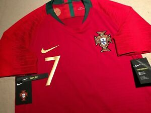 Portugal Cristiano Ronaldo 2018 World Cup Nike Home Authentic Jersey Size Medium