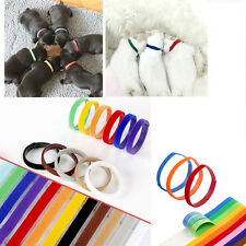 12PCS Newborn Pet Puppy Hook and Loop Neck ID Collars Whelping Band Adjustable