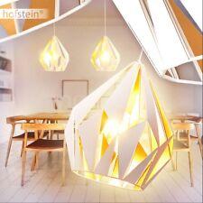 Lámpara colgante retro redonda blanco dorado salón comedor pasillo dormitorio