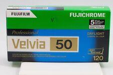 Fuji Fujichrome Velvia 50 RVP 120mm 50 Color Slide Film ISO 50, 5 Rolls 16329185