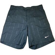 Nike Fit-Dry Tennis Men's Flat Front Plaid Shorts Navy Size Medium NEW
