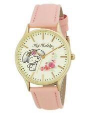 Sanrio My Melody Wrist Watch Classical Art Pink Leather Japan Limited