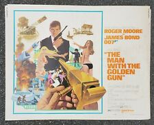 THE MAN WITH THE GOLDEN GUN HALF SHEET Movie Poster-OG-74/251-Free USA Ship-RARE