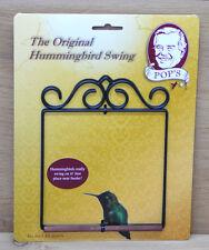 The Original Pop's Hummingbird Swing Black Metal Hanging Perch