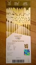LONDON 2012 OLYMPIC TICKET CLOSING CEREMONY COLLECTORS EDITION 12 AUG £1500 MINT
