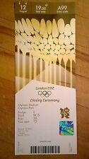 Billete de Londres 2012 olímpico ceremonia de clausura Collectors Edition 12 Ago £ 1500 Como Nuevo
