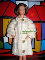 manteau chic barbie grand mère happy family blanc écru  sexy label qualité @