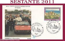 VATICANO FDC FILAGRANO PAPA GIOVANNI PAOLO II VISITA MODENA MARANELLO 1988 (625)