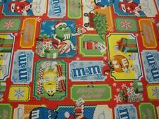 M&M'S Christmas Patchwork By Springs Creative Group-BTY-M&M's-Christmas-Trees