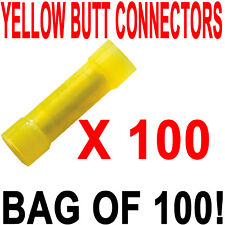 YELLOW 12/10 INSULATED BUTT SPLICE CONNECTOR QTY 100