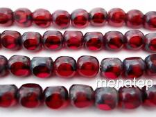 25 6 mm Czech Glass Antique Style Triangle Beads: Fuchsia - Picasso
