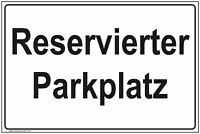 Parkplatz Schilder Parkverbot Hinweis - Schild Parkverbotsschild Parken verboten