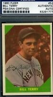 Bill Terry Signed 1960 Fleer Psa/dna Certed Autograph Authentic